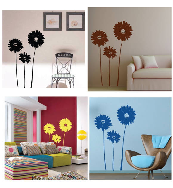 Large Gerbera Wall Stickers
