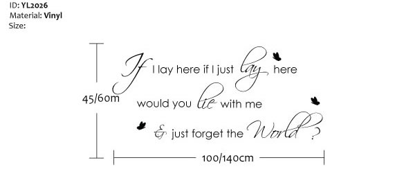 if i lay here wall quote sticker