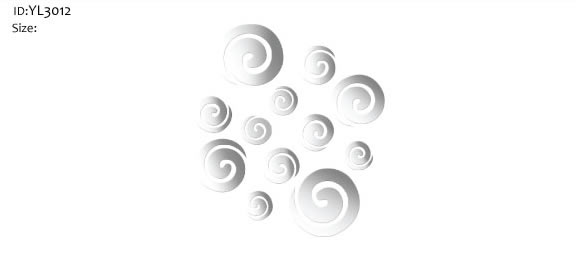 swirl mirror wall stickers