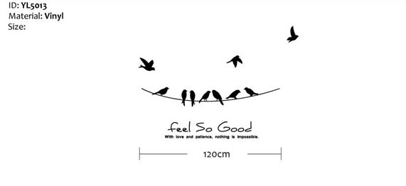 Power Line Birds Wall Sticker
