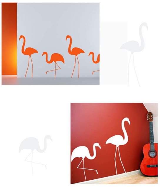 Twin Crane Wall Sticker