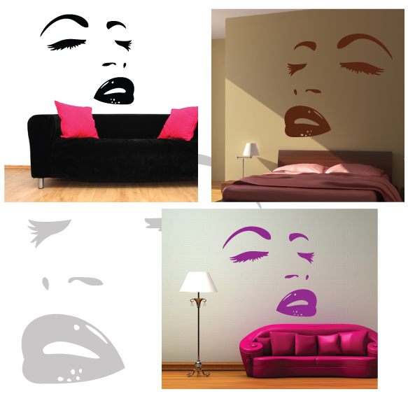 Face Wall Sticker