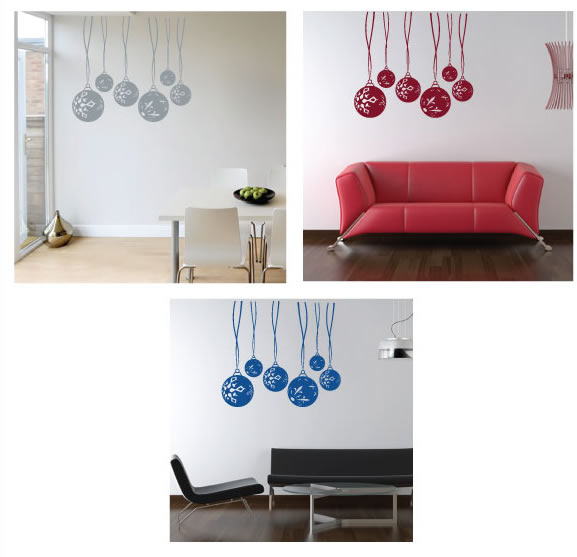 christmas bulb wall stickers