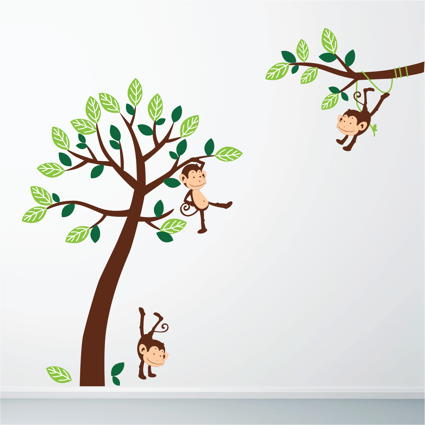 monkey jungle wall sticker stickers wall jungle animals and tree wall stickers by mirrorin