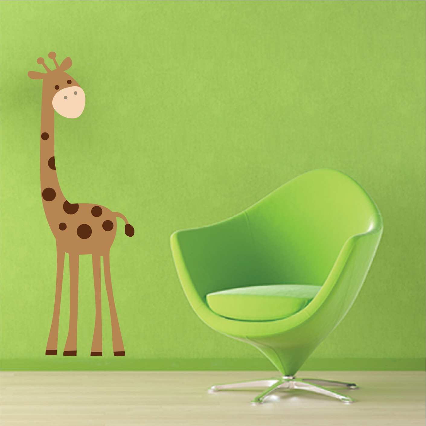 giraffe wall sticker stickers wall